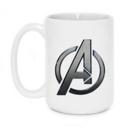 Кружка 420ml Avengers Steel Logo - FatLine