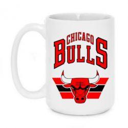 Кружка 420ml Большой логотип Chicago Bulls - FatLine