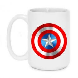 Кружка 420ml Captain America 3D Shield - FatLine