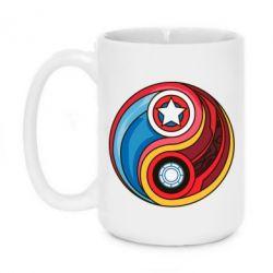 Кружка 420ml Captain America & Iron Man - FatLine