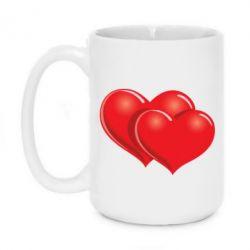 Кружка 420ml Два сердца - FatLine