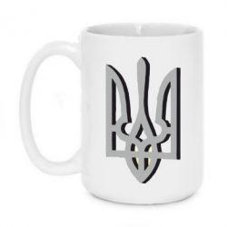 Кружка 420ml Двокольоровий герб України - FatLine
