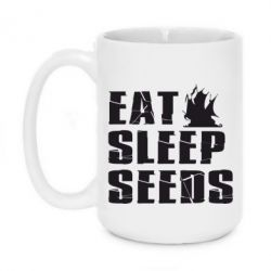 Кружка 420ml Eat Sleep Seeds (pirat bay) - FatLine