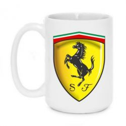 Кружка 420ml Ferrari 3D Logo - FatLine