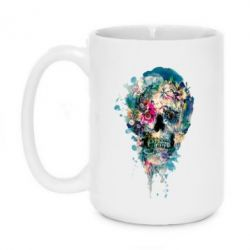 Кружка 420ml Flower Skull 4 - FatLine