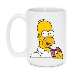 Кружка 420ml Гомер любит пончики - FatLine