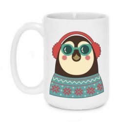 Кружка 420ml Hipster Christmas Penguin - FatLine