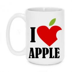 Кружка 420ml I love APPLE