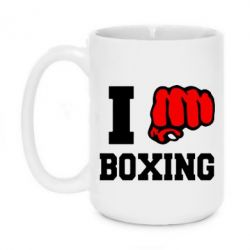 Кружка 420ml I love boxing - FatLine