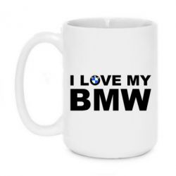 Кружка 420ml I love my BMW - FatLine