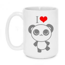 Кружка 420ml I love Panda - FatLine