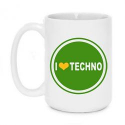 Кружка 420ml I love techno music - FatLine