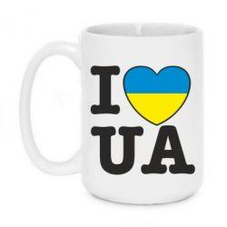 Кружка 420ml I love UA - FatLine