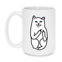 Кружка 420ml Кот с факом - FatLine
