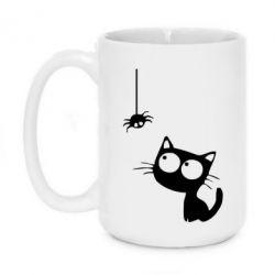 Кружка 420ml Котик і павук - FatLine