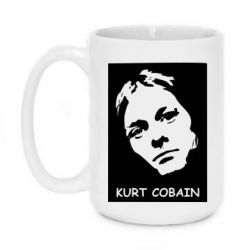 Кружка 420ml Kurt Cobain Face - FatLine