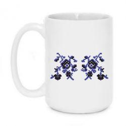 Кружка 420ml Квітковий орнамент - FatLine