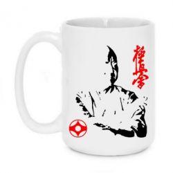 Кружка 420ml Kyokushin Kanku logo - FatLine