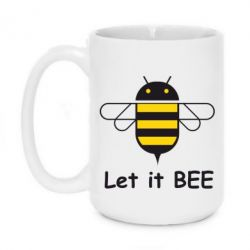 Кружка 420ml Let it BEE Android - FatLine