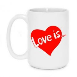 Кружка 420ml Love is... - FatLine