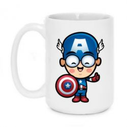 Кружка 420ml Маленький Капитан Америка - FatLine