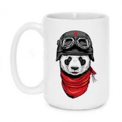 Кружка 420ml Панда в каске - FatLine
