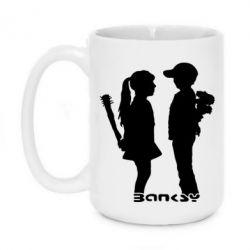 Кружка 420ml Пара Bancsy - FatLine