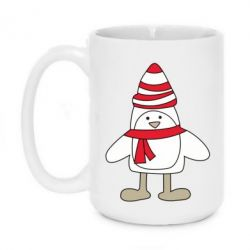 Кружка 420ml Penguin in the hat and scarf - FatLine