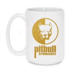 Кружка 420ml Pitbull Syndicate Gold - FatLine
