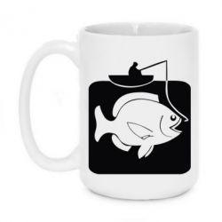 Кружка 420ml Рыба на крючке - FatLine