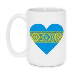 Кружка 420ml Серце України - FatLine