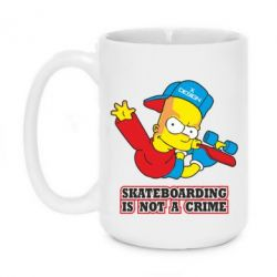 Кружка 420ml Skateboarding is not a crime - FatLine
