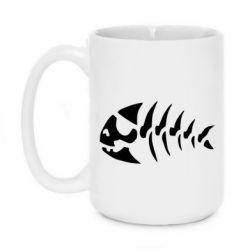 Кружка 420ml скелет рибки - FatLine