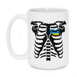 Кружка 420ml Скелет з сердцем Україна - FatLine