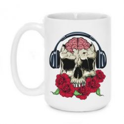 Кружка 420ml Skull and roses