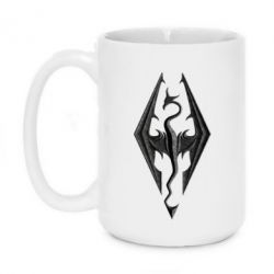 Кружка 420ml Skyrim Logo 3D - FatLine