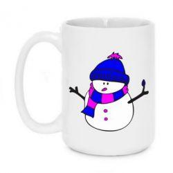 Кружка 420ml Снеговик - FatLine