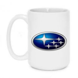 Кружка 420ml Subaru 3D Logo - FatLine