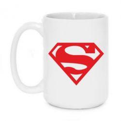 Кружка 420ml Superman одноцветный - FatLine