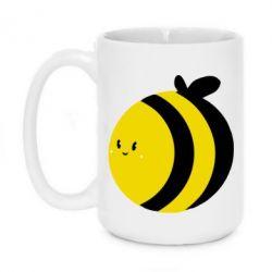 Кружка 420ml толстая пчелка - FatLine