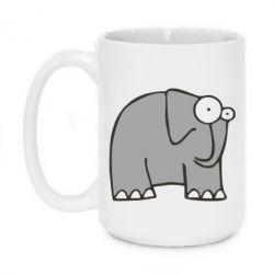 Кружка 420ml удивленный слон - FatLine