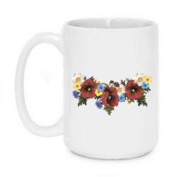 Кружка 420ml Украинские цветы - FatLine