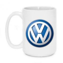 Кружка 420ml Volkswagen 3D Logo - FatLine