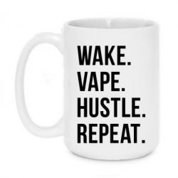 Кружка 420ml Wake.Vape.Hustle.Repeat.
