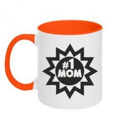 Кружка двухцветная # 1 MOM - FatLine