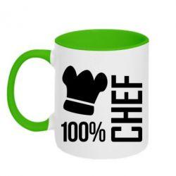 Кружка двухцветная 100% Chef - FatLine