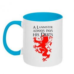Кружка двухцветная A Lannister always pays his debts - FatLine
