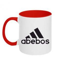 Кружка двухцветная ab'ebos - FatLine