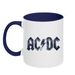 Кружка двухцветная AC/DC Logo - FatLine