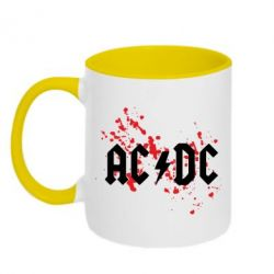 Кружка двухцветная ACDC - FatLine